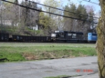 CR 589012 Gondola w/NS 3335 & NS (ex.CR) 3370 pushing at the rear WB